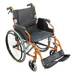 Aidapt VA165 ORANGE Deluxe Leichtgewichtiger Rollstuhl